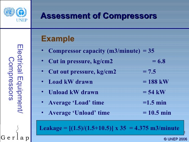 Compressed Air Head Loss Calculation