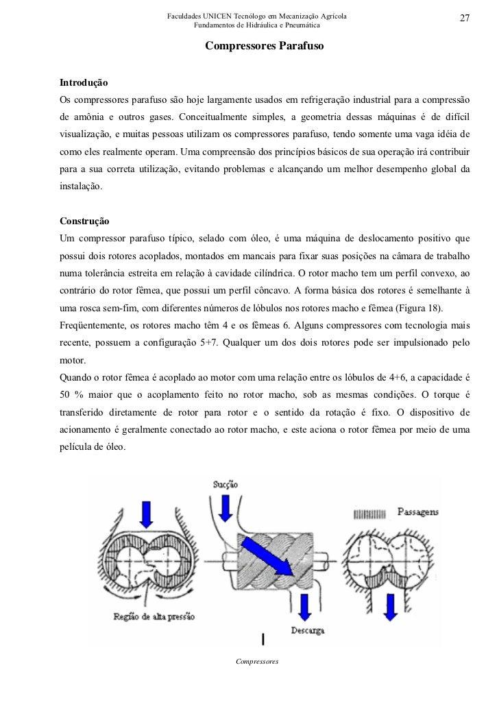 Faculdades UNICEN Tecnólogo em Mecanização Agrícola                   27                                 Fundamentos de Hi...