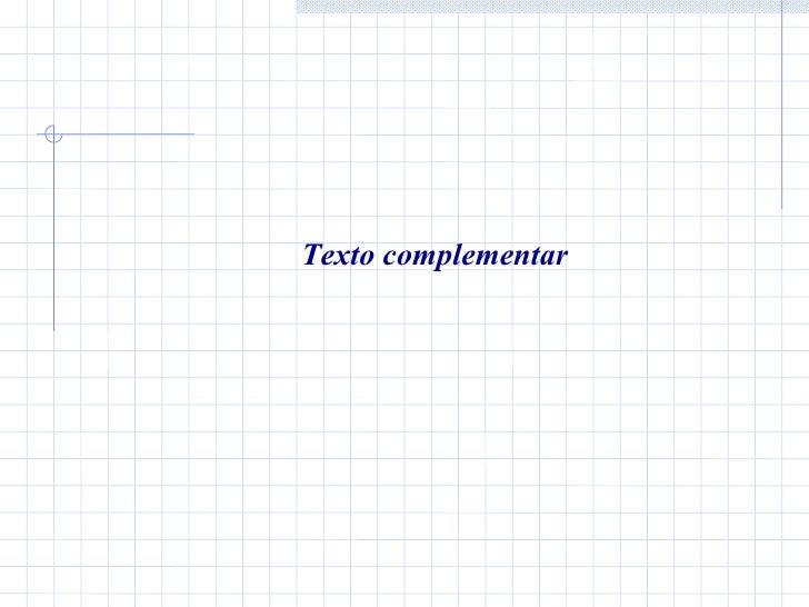 Texto complementar