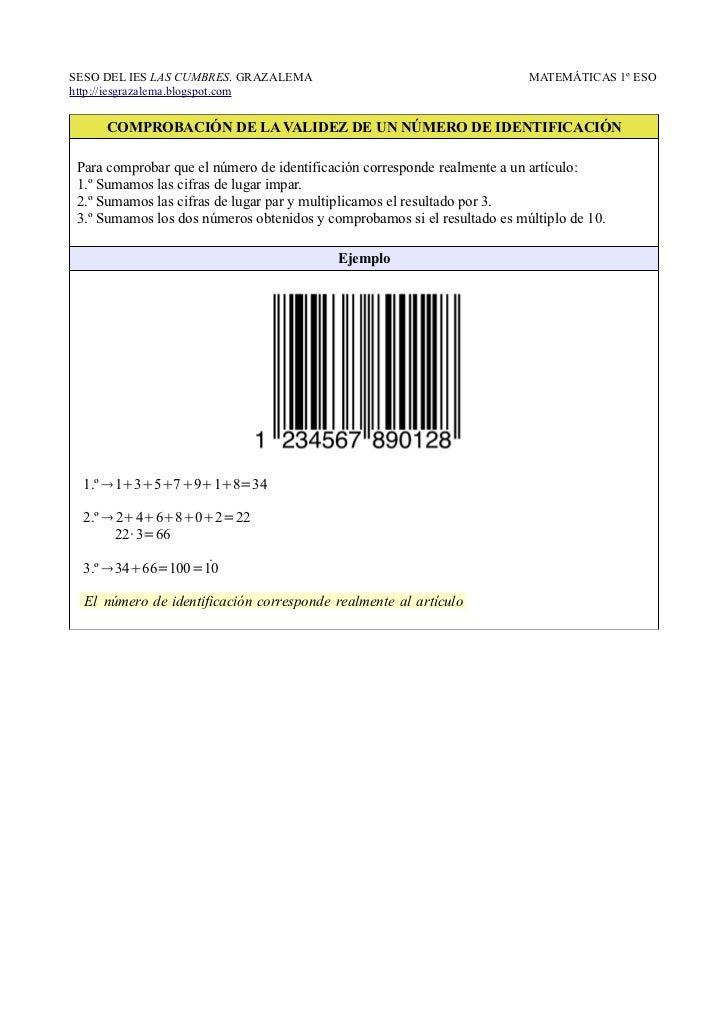 SESO DEL IES LAS CUMBRES. GRAZALEMA                                       MATEMÁTICAS 1º ESOhttp://iesgrazalema.blogspot.c...