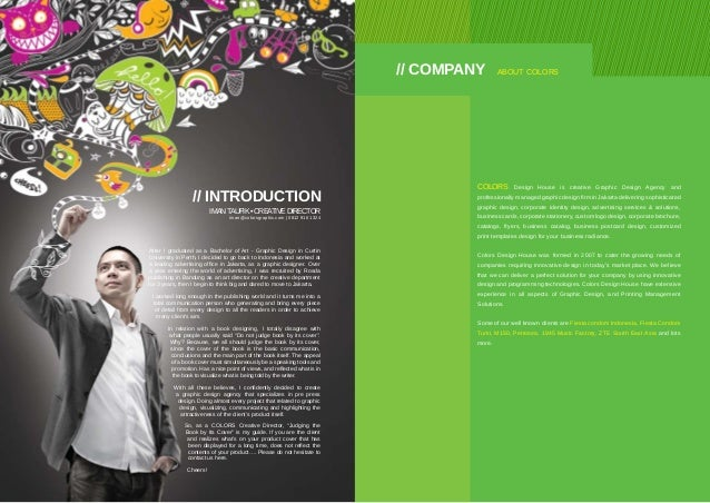 company profile 2 colors design house is creative graphic - Graphic Artist Profile