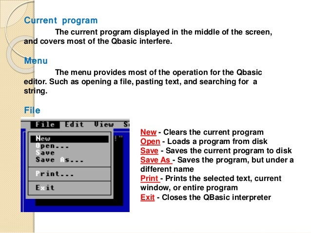 The Knowledge of QBasic