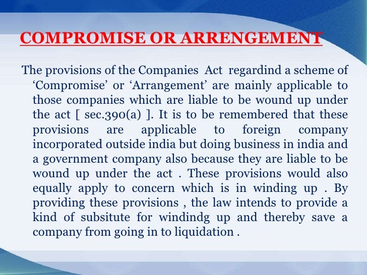The Companies (Compromises, Arrangements and Amalgamations) Rules, 2016