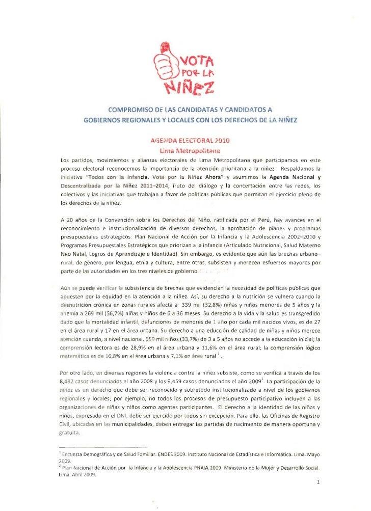 COMPROM SO Of LAS CANDIDATAS V CA N 01D.tTOS A                   GOBlER OS REGIONALES Y LOCALES CO                        ...