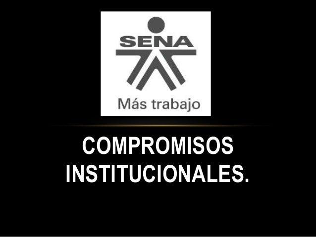 COMPROMISOS INSTITUCIONALES.