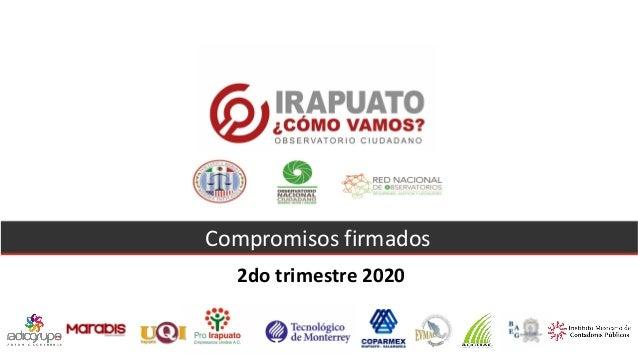 Compromisos firmados 2do trimestre 2020