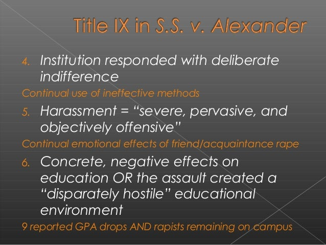 Deliberate Indifference To Hostile >> Action As Deliberate Indifference Sexual Assault At Occidental Colle