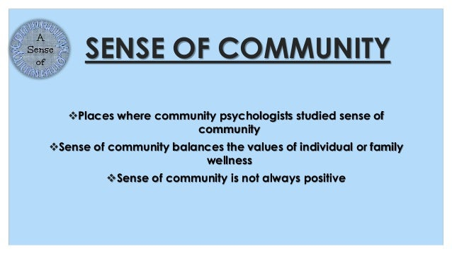 Community in psychology