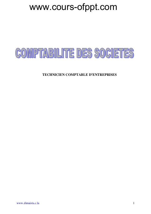 www.cours-ofppt.com  TECHNICIEN COMPTABLE D'ENTREPRISES  www.dimaista.c.la 1