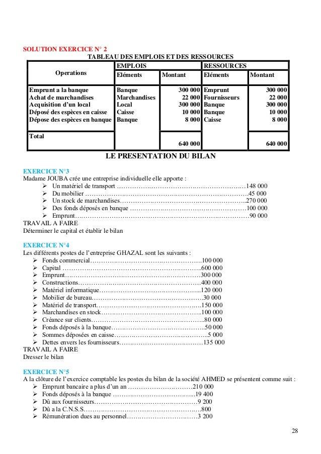 Exercice facile bilan comptable - Exercice d enregistrement comptable ...
