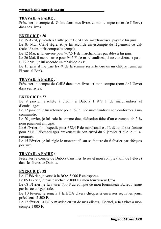 ses seconde exercices corriges