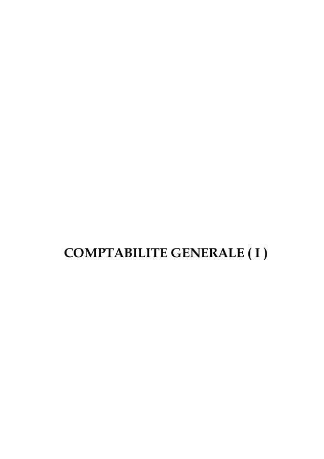 COMPTABILITE GENERALE ( I )