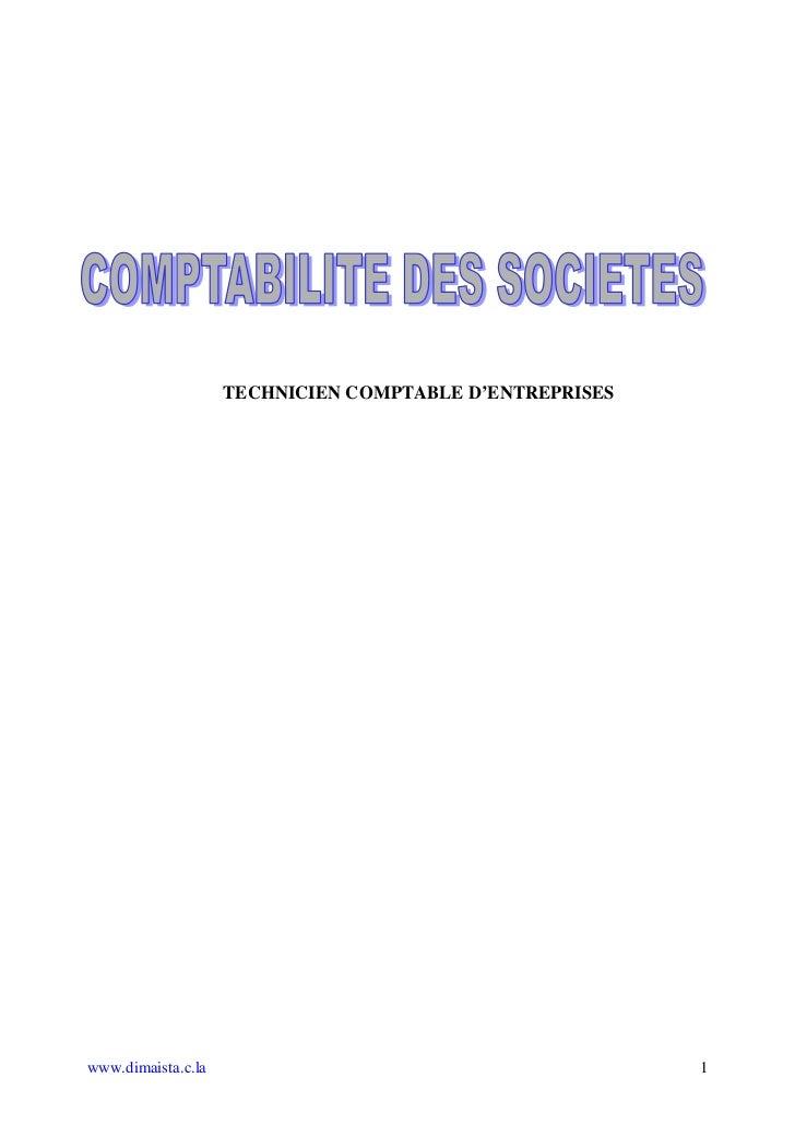 TECHNICIEN COMPTABLE D'ENTREPRISESwww.dimaista.c.la                                        1