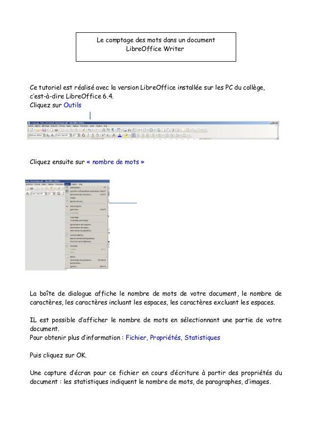 Ce tutoriel est réalisé avec la version LibreOffice installée sur les PC du collège, c'est-à-dire LibreOffice 6.4. Cliquez...