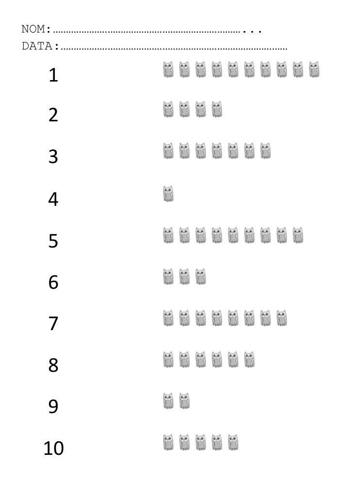 NOM:………………………………………………………………...DATA:……………………………………………………………………………   1   2   3   4   5   6   7   8   9  10