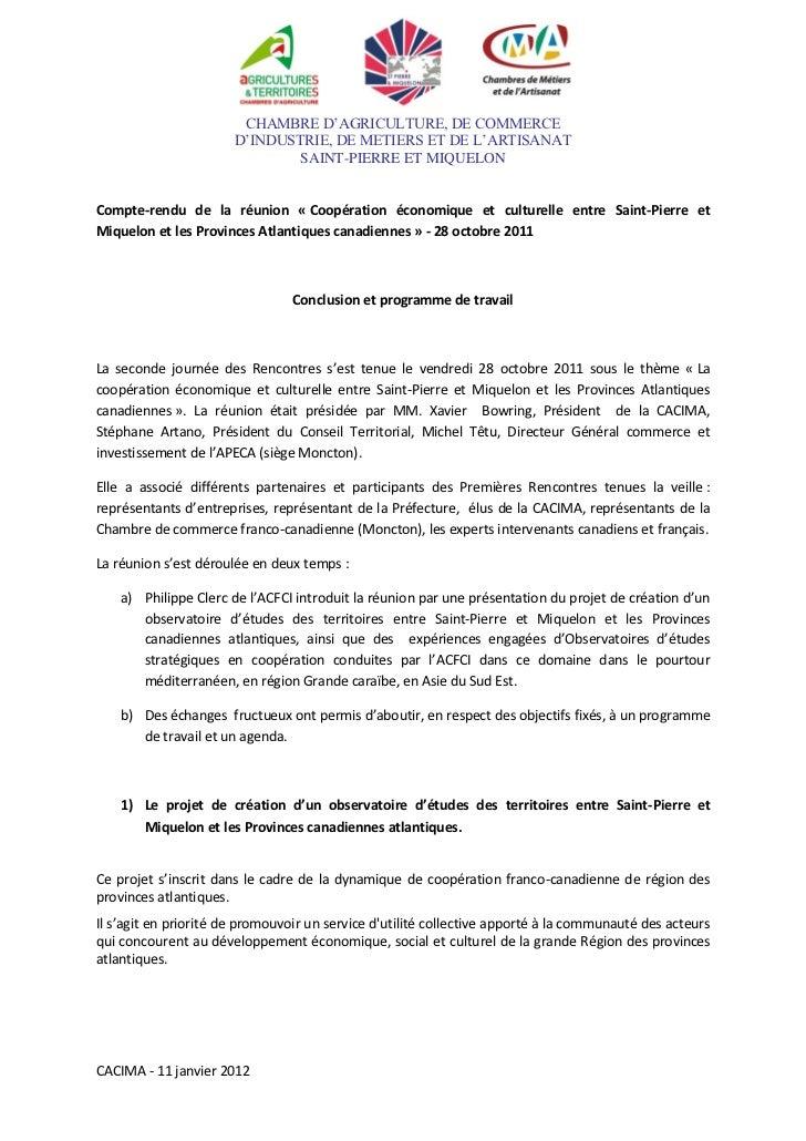 Cr coop ration conomique et culturelle entre saint - Chambre des metiers ou chambre de commerce ...