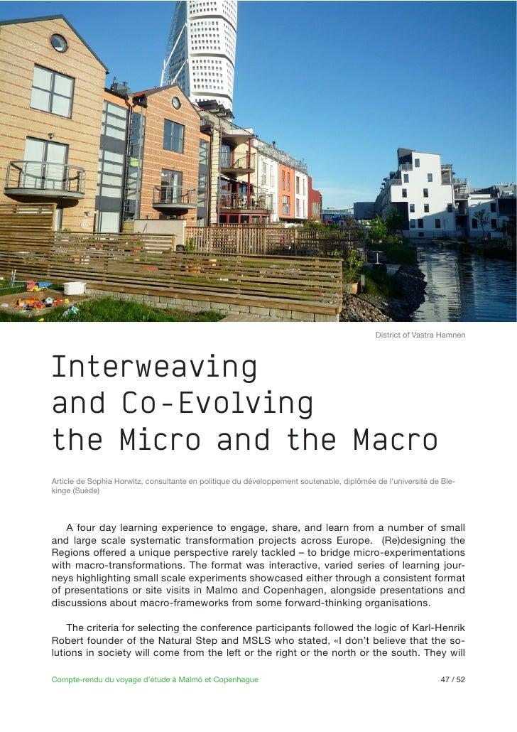 District of Vastra HamnenInterweavingand Co-Evolvingthe Micro and the Macro                                               ...