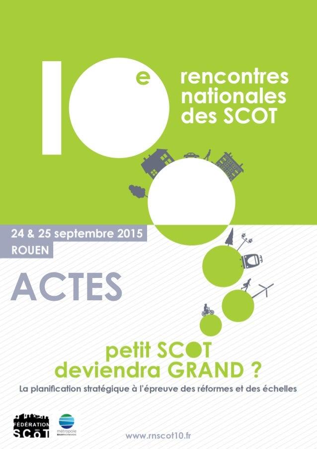 La conférence des SCOT Ligériens