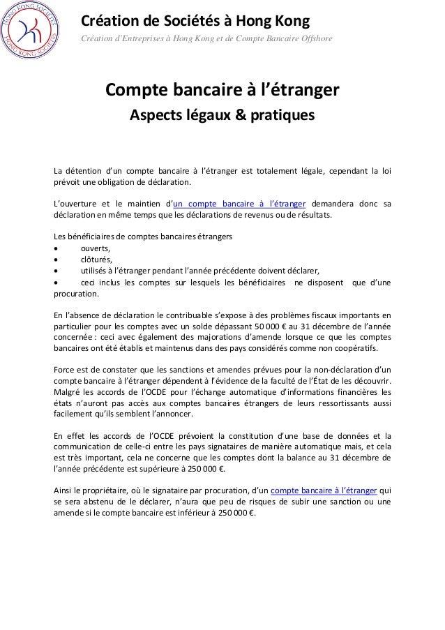 Compte Bancaire A L Etranger Aspects Legaux Et Pratiques
