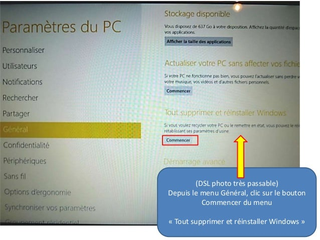 Restaurer Windows  Usine Sans Mot De Passe