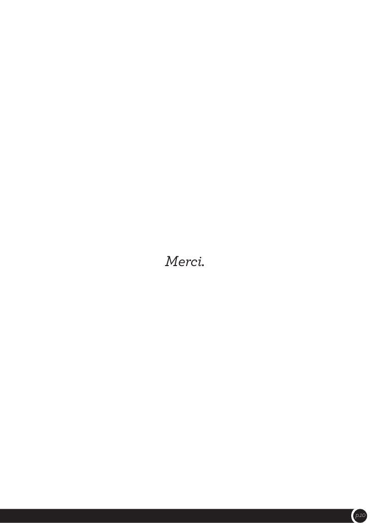 Merci.         p.10