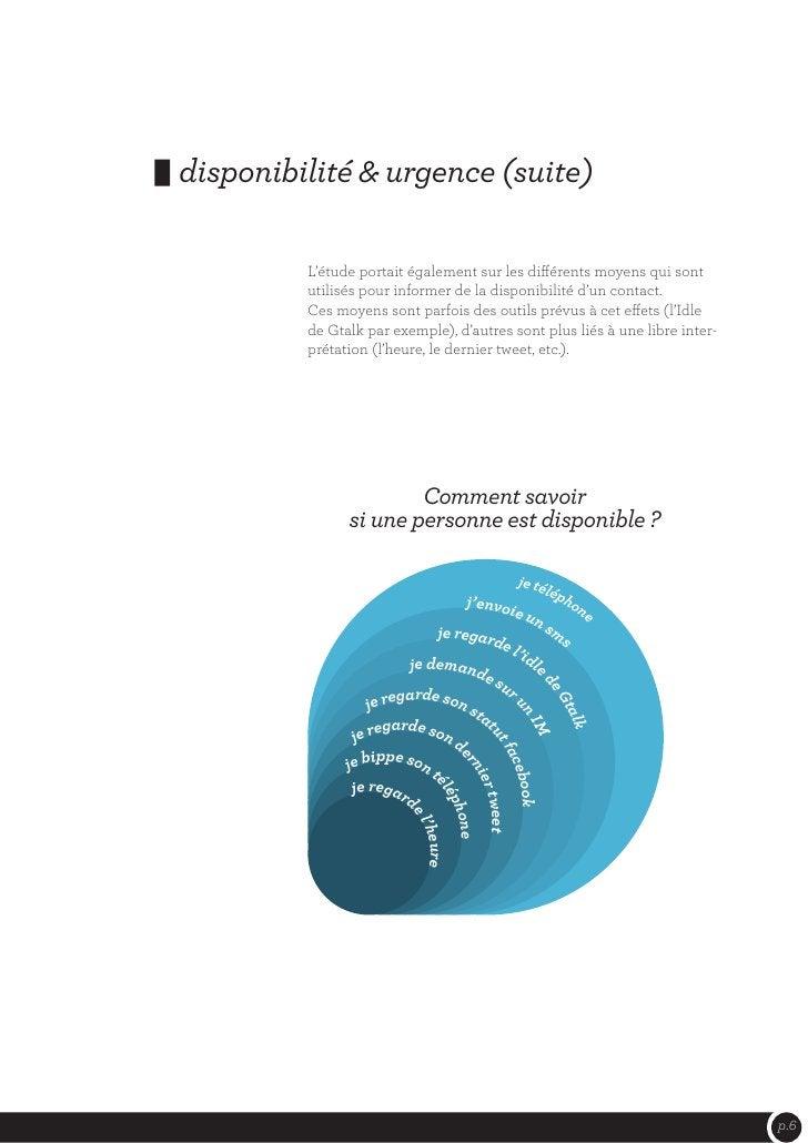 disponibilité & urgence (suite)         L'étude portait également sur les différents moyens qui sont         utilisés pour...