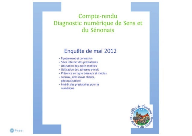 Le diagnostic numérique de Sens et du Sénonais