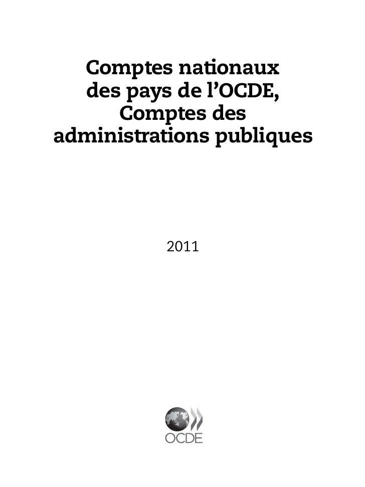 Comptes nationaux des pays de l'ocde comptes des administrations publiques 2011 Slide 3