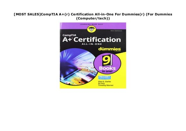 Most Sales Comptia A R Certification All In One For