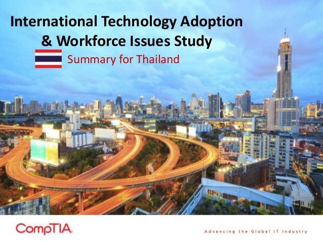 International Technology Adoption & Workforce Issues Study Summary for Thailand