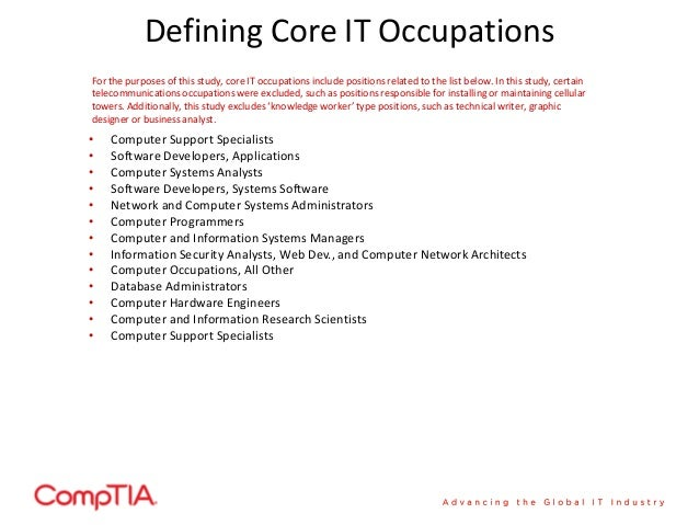 20. Defining Core IT Occupationsu2022 Computer ...