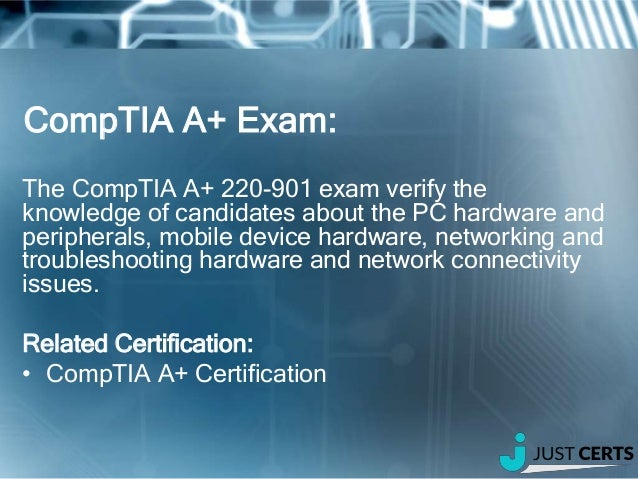 CompTIA 220 901 A Certification Exam Update OCT 2016 2