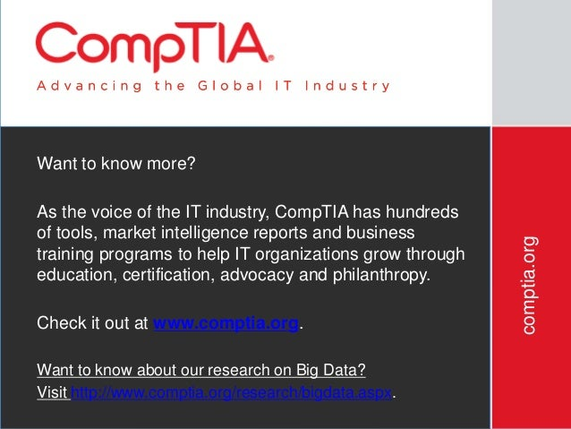 CompTIA 2nd Annual Big Data Insights & Opportunities Study