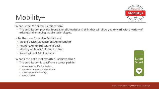comptia certification information