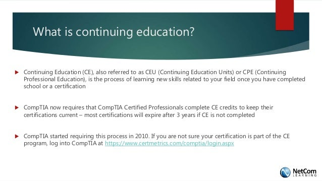 CompTIA Continuing Education: What You Need to Know?