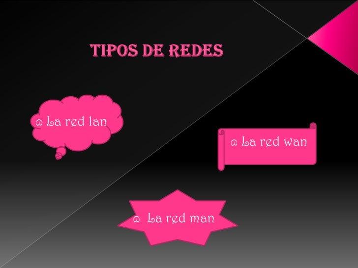 TIPOS DE REDES<br />   ɷ La red lan<br />                                                           ɷ La red wan<br />    ...