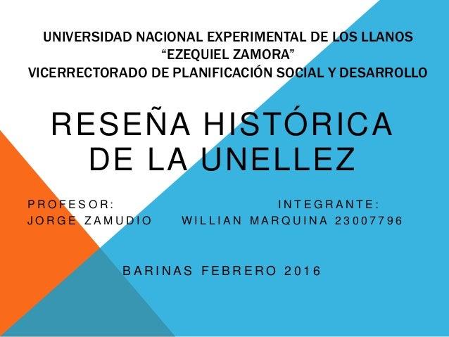 """UNIVERSIDAD NACIONAL EXPERIMENTAL DE LOS LLANOS """"EZEQUIEL ZAMORA"""" VICERRECTORADO DE PLANIFICACIÓN SOCIAL Y DESARROLLO RESE..."""