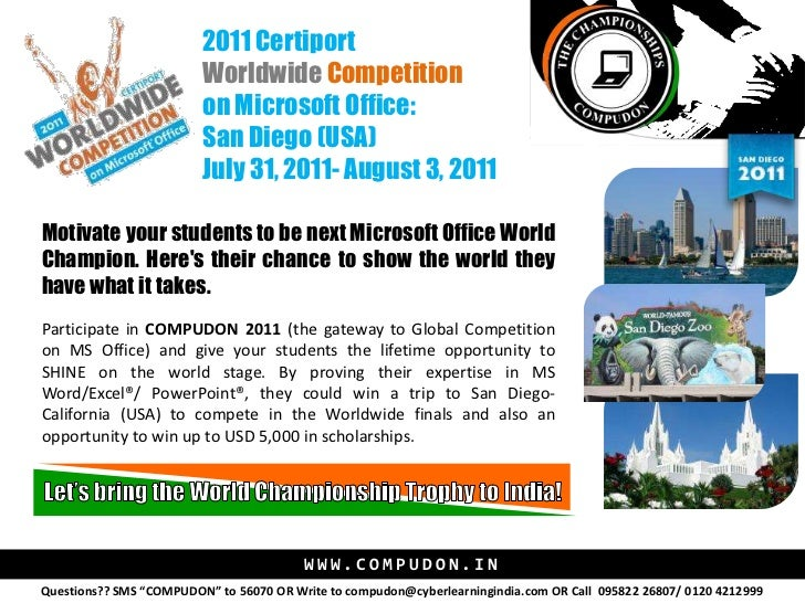 Microsoft Office Championship - Compudon Detailed Information