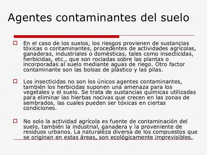 Compuestos que contaminan el medio ambiente for Materiales que forman el suelo