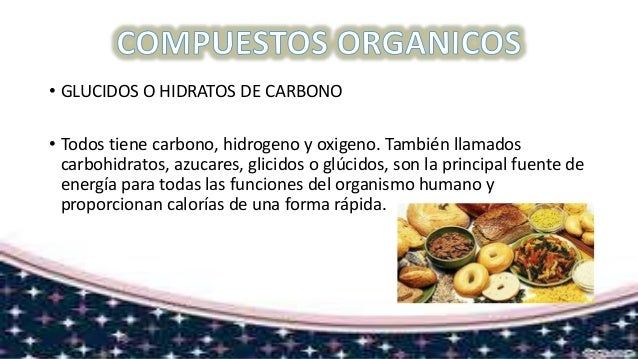 • GLUCIDOS O HIDRATOS DE CARBONO • Todos tiene carbono, hidrogeno y oxigeno. También llamados carbohidratos, azucares, gli...