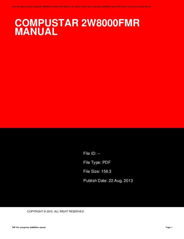 compustar 2w8000fmr manual rh slideshare net Compustar Alarm Manual Compustar Remote Starter Manual