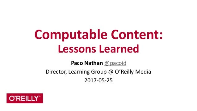Computable	   Content:	   