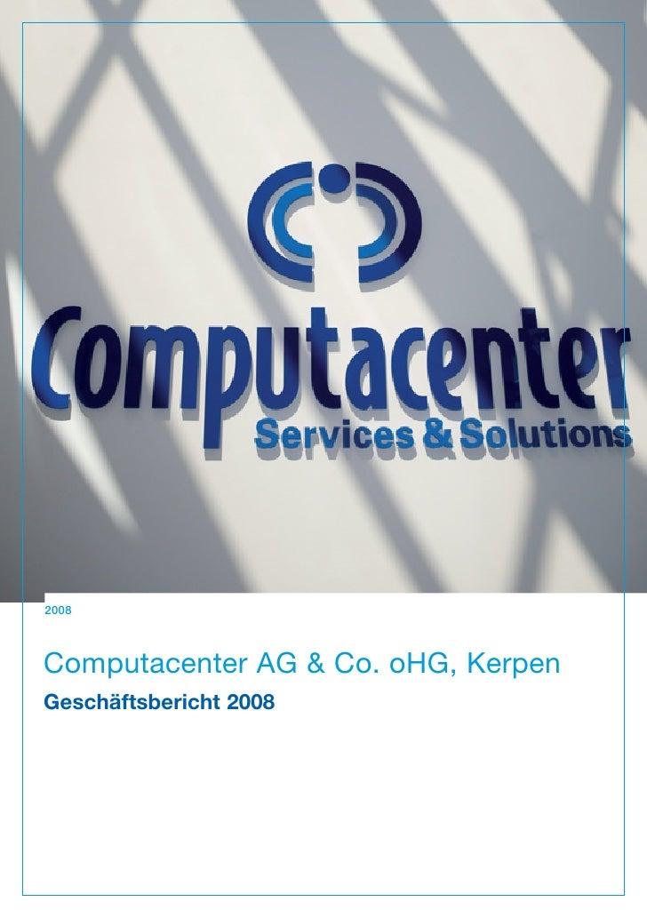 12008Computacenter AG & Co. oHG, KerpenGeschäftsbericht 2008