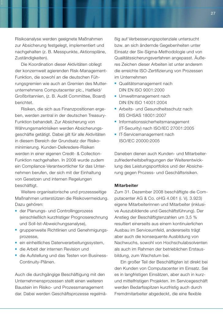 27Risikoanalyse werden geeignete Maßnahmen              ßig auf Verbesserungspotenziale untersuchtzur Absicherung festgele...