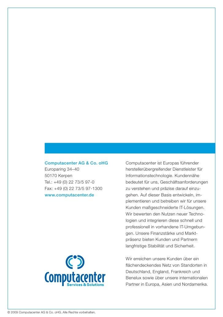 Computacenter Geschäftsbericht 2008