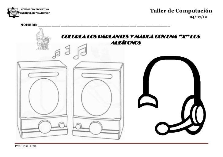 """CONSORCIO EDUCATIVO    PARTICULAR """"TALENTOS""""                                                              Taller de Comput..."""