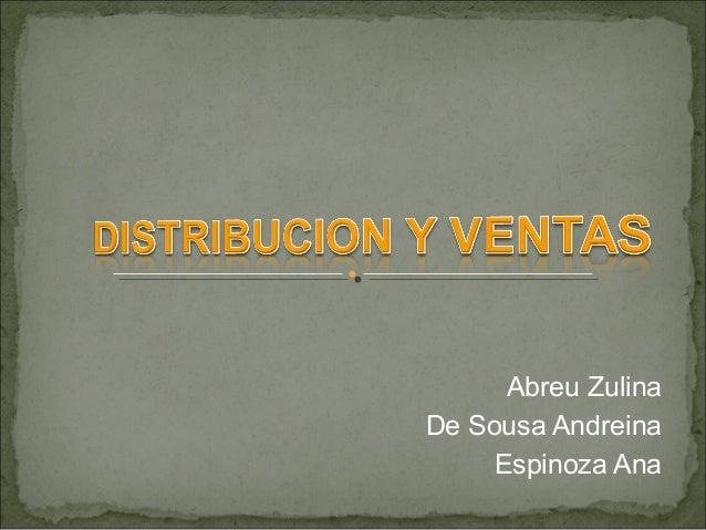 Abreu Zulina De Sousa Andreina Espinoza Ana