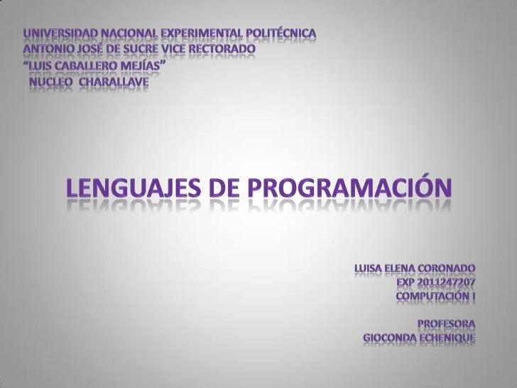Idioma Artificial      Expresar                                                               Programas     Controlan     ...