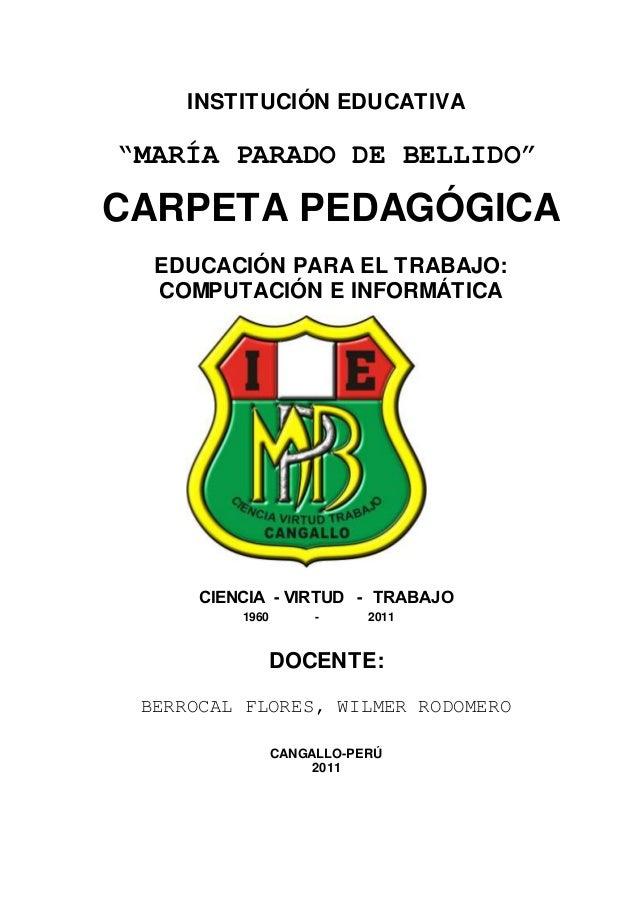 PROGRAMACIÓN DE COMPUTACIÓN E INFORMATICA