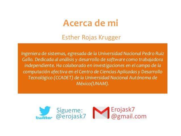 Ingeniera de sistemas, egresada de la Universidad Nacional Pedro Ruiz Gallo. Dedicada al análisis y desarrollo de software...